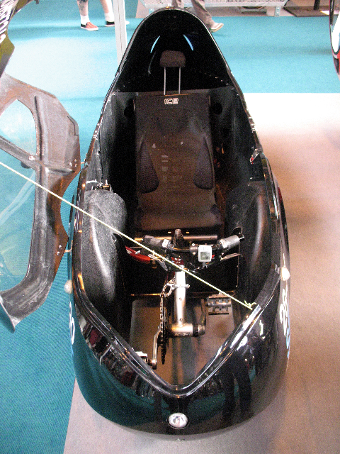 Photo of interior of black Ocean Cycles Challenger