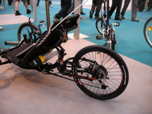 Photo of ICE Sprint trike with Sunstar iBike system battery mounting