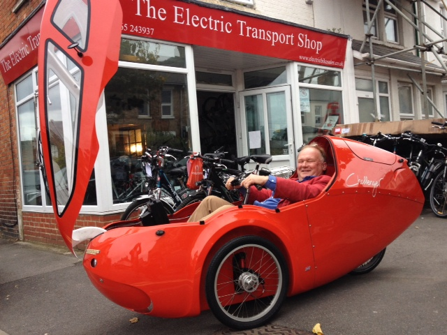 Photo of a Challenger Velomobile