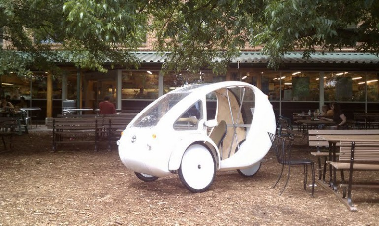 Photo of an ELF prototype parked in the streat