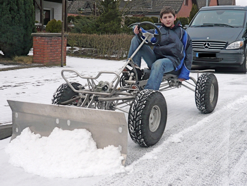 Pedal Powered Snow Removal Velomobiles